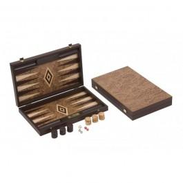 Übergames Backgammon Walnuss robust- Holzspielzeug Profi