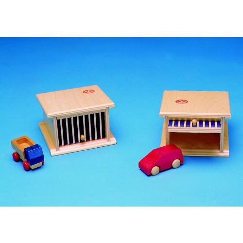 Beck garage mit kipptor für zwei autos beim holzspielzeug