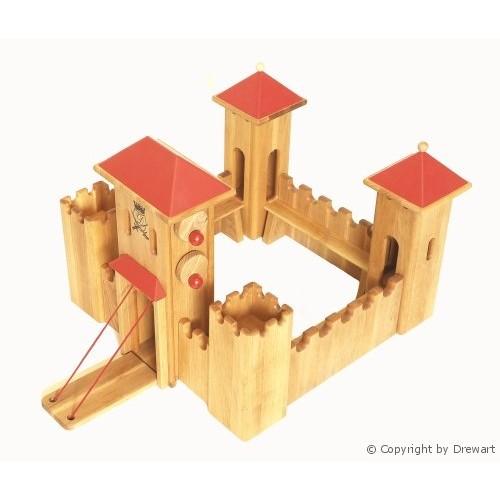 drewart schloss mittelgro mit rotem dach neu beim holzspielzeug profi. Black Bedroom Furniture Sets. Home Design Ideas