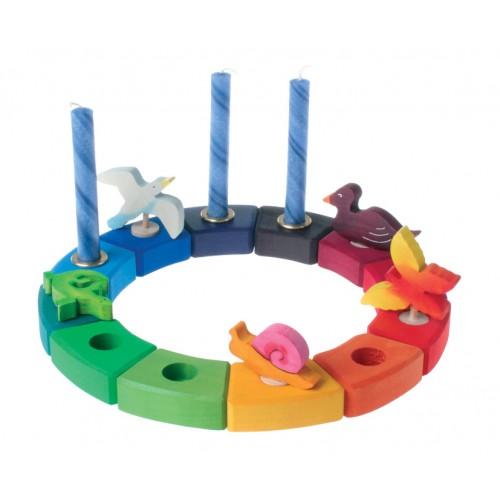 grimm s regenbogenring ein geburtstagsring von holzspielzeugprofi. Black Bedroom Furniture Sets. Home Design Ideas