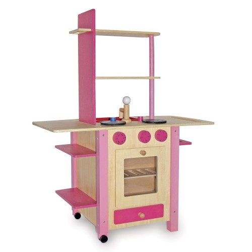 k che all in one rosa die beliebte kinderk che aus holz. Black Bedroom Furniture Sets. Home Design Ideas
