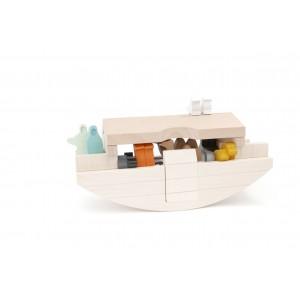 BAJO Arche Noah: BAJO Arche Noah: alles an Board - Holzspielzeug Profibnehmbares Dach - Holzspielzeug Profi