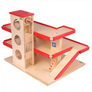 Beck Parkhaus mit Aufzug - Holzspielzeug Profi