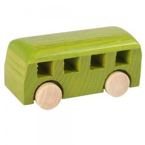 Beck Miniatur Kleinbus in grün - Holzspielzeug Profi