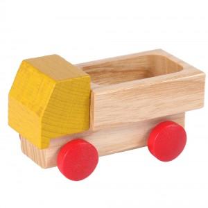 Beck Miniatur Lieferwagen in gelb - Holzspielzeug Profi