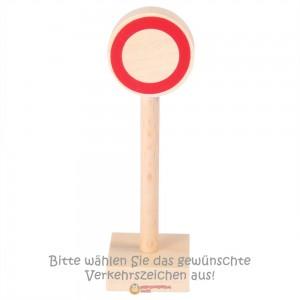 Beck Verkehrszeichen einzeln (Beispiel Durchfahrt verboten) - Holzspielzeug Profi