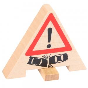 Beck Warnschild Verkehrsunfall - Holzspielzeug Profi
