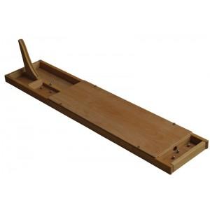 Blindboard von Holz-Bi-Ba-Butze: abgedeckte Spielvariante  - Holzspielzeug Profi