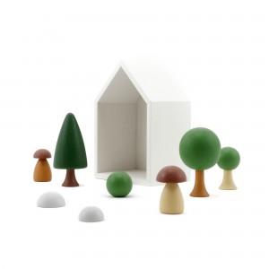 CLICQUES Garden Set: seitlich - Holzspielzeug Profi
