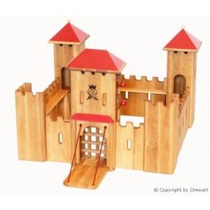 Drewart Ritterburg: Großes Schloss mit rotem Dach - Holzspielzeug Profi