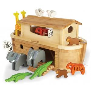 EverEarth Arche Noah groß mit 14 Tieren - Holzspielzeug Profi