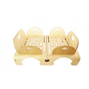 Flowerssori Kinderbett Cat 2: hier mit vier Seitenteilen - Holzspielzeug Profi
