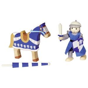 goki Ritter Lancelod Biegepüppchen mit Pferd - Holzspielzeug Profi