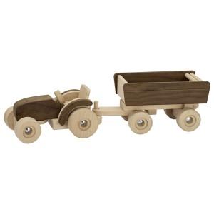 Traktor mit Anhänger von goki nature - Holzspielzeug Profi