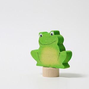 GRIMM´S Stecker Dunkler Frosch - Holzspielzeug Profi