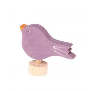 GRIMM´S Stecker sitzender Vogel - Holzspielzeug Profi