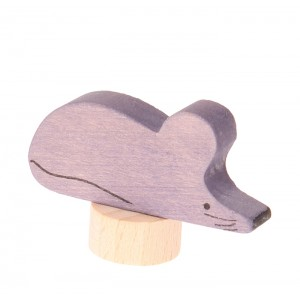 GRIMM´S Stecker grau-rosa Maus - Holzspielzeug Profi