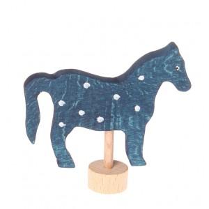 GRIMM´S Stecker blaues Pferd - Holzspielzeug Profi