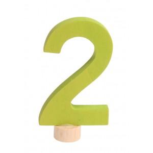 GRIMM´S Zahlenstecker 2 neu - Holzspielzeug Profi