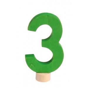 GRIMM´S Zahlenstecker 3 neu - Holzspielzeug Profi