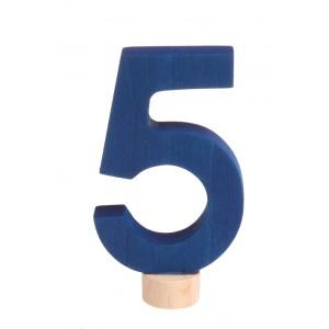 GRIMM´S Zahlenstecker 5 neu - Holzspielzeug Profi