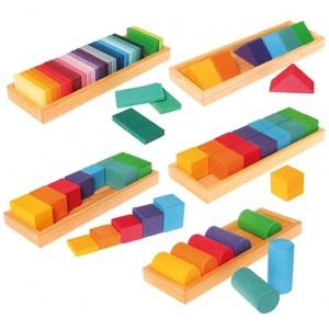 GRIMM´S Bauset Formen & Farben Set 1- Holzspielzeug Profi