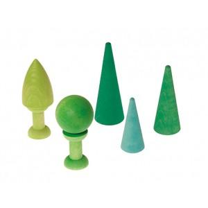 GRIMM´S Mischwald (7 Teile) - Holzspielzeug Profi