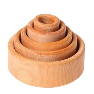 GRIMM´S Schälchensatz natur aus Erle - Holzspielzeug Profi