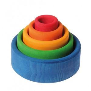 GRIMM´S Schälchensatz rund, außen blau- Holzspielzeug Profi