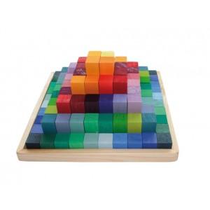 GRIMM`S Kleine Stufenpyramide: im Holzrahmen - Holzspielzeug Profi