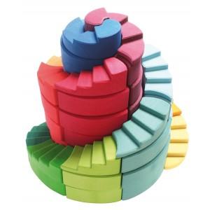 GRIMM´S Doppelläufige Stufenspirale - Holzspielzeug Profi