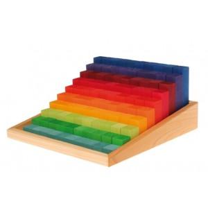 GRIMM`S Kleine Stufenzählstäbe: im Holzrahmen - Holzspielzeug Profi