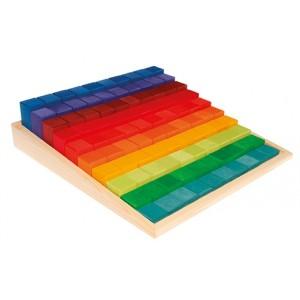 GRIMM`S Große Stufenzählstäbe: im Holzrahmen - Holzspielzeug Profi