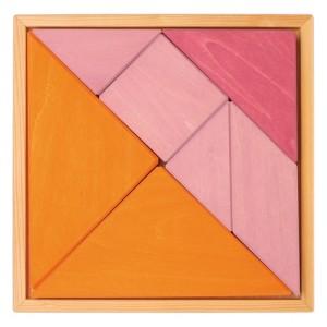 GRIMM´S Tangram rosa-orange - Holzspielzeug Profi
