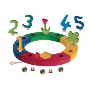 GRIMM´S Geburtstagsdeko Kleiner Ring Regenbogen - Holzspielzeug Profi