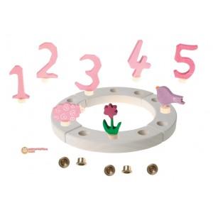 GRIMM´S Geburtstagsdeko Kleiner Ring Rosa Wiese - Holzspielzeug Profi