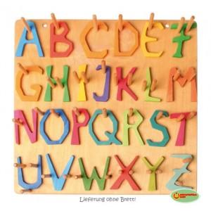 GRIMM´S Alphabet Waldorf (Lieferung ohne das Brett zum Aufhängen!) - Holzspielzeug Profi