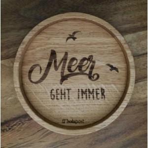 """Holzpost® Untersetzer Bierdeckel """"Meer geht immer"""" - Holzspielzeug Profi"""