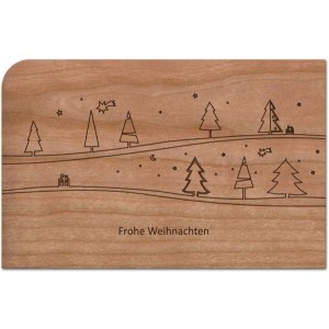 "Holzpost Grußkarte ""Wald"" - Holzspielzeug Profi"