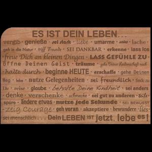 """Holzpost Grußkarte """"Dein Leben"""": Vorderseite - Holzspielzeug Profi"""