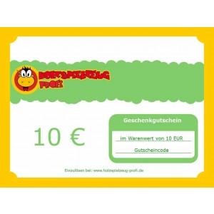 Holzspielzeug Profi Geschenkgutschein 10 EUR