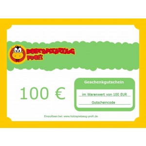 Holzspielzeug Profi Geschenkgutschein 100 EUR