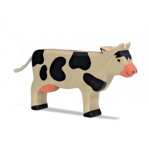 HOLZTIGER Kuh stehend, schwarz