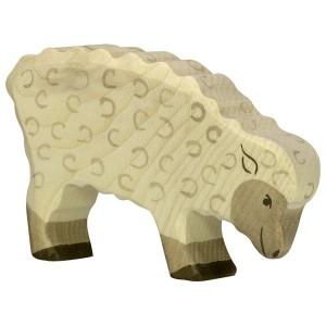 HOLZTIGER Schaf fressend grasend - Holzspielzeug Profi