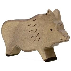 Holztiger Wildschwein Keiler Eber - Holzspielzeug Profi