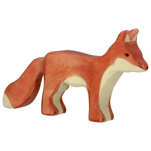 Holztiger Fuchs stehend- Holzspielzeug Profi