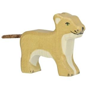 Holztiger Kleiner Löwe stehend - Holzspielzeug Profi