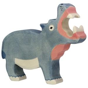 Holztiger Nilpferd Flusspferd - Holzspielzeug Profi