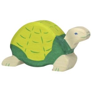 Holztiger grüne Schildkröte - Holzspielzeug Profi