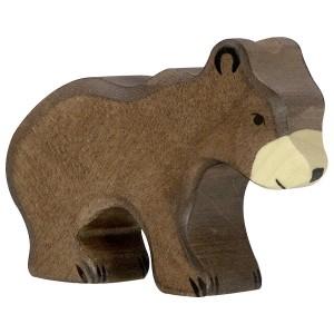 Holztiger Kleiner Braunbär - Holzspielzeug Profi
